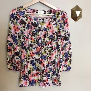 Maeve Anthropologie Pansy Field Floral Blouse 4